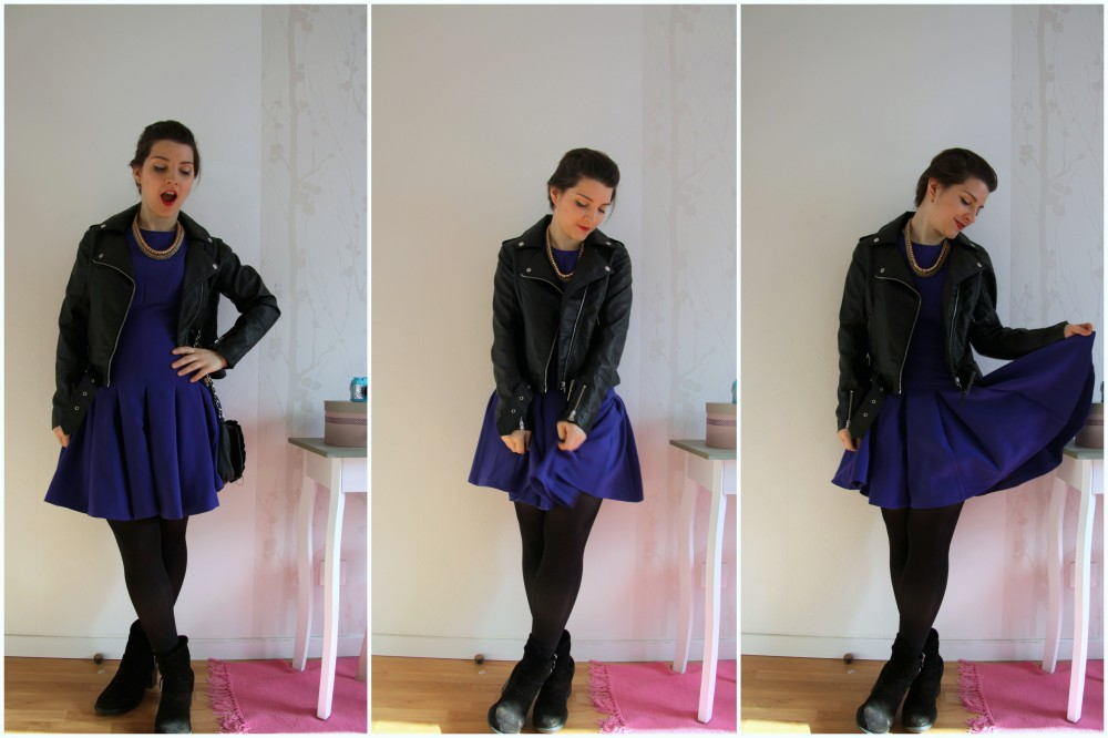 look blue dress