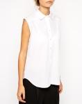 chemise blanche sans manche