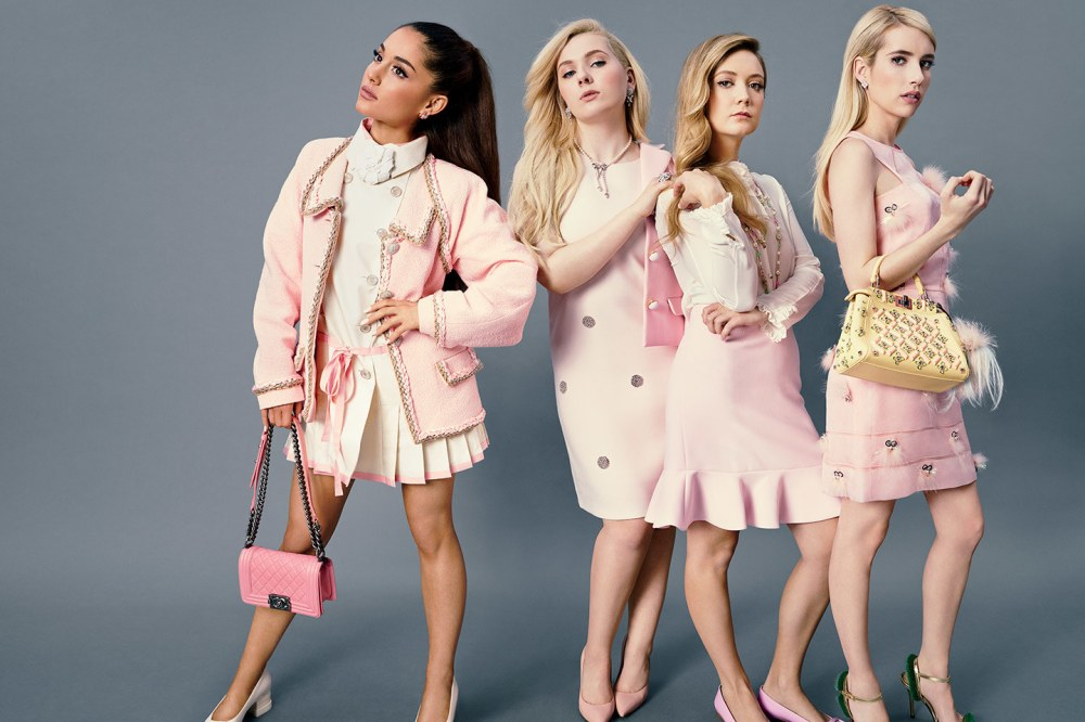 t-scream-queens-ariana-grande-abigail-breslin-emma-roberts-billie-lourd-sorority-from-hell-clique-vf-2