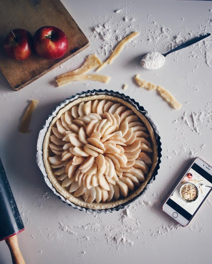 tarte aux pommes instagrammable