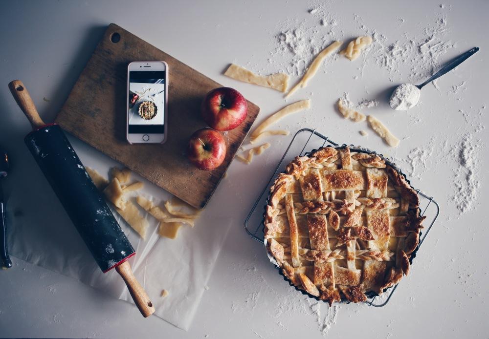 tarte aux pomme instagrammable