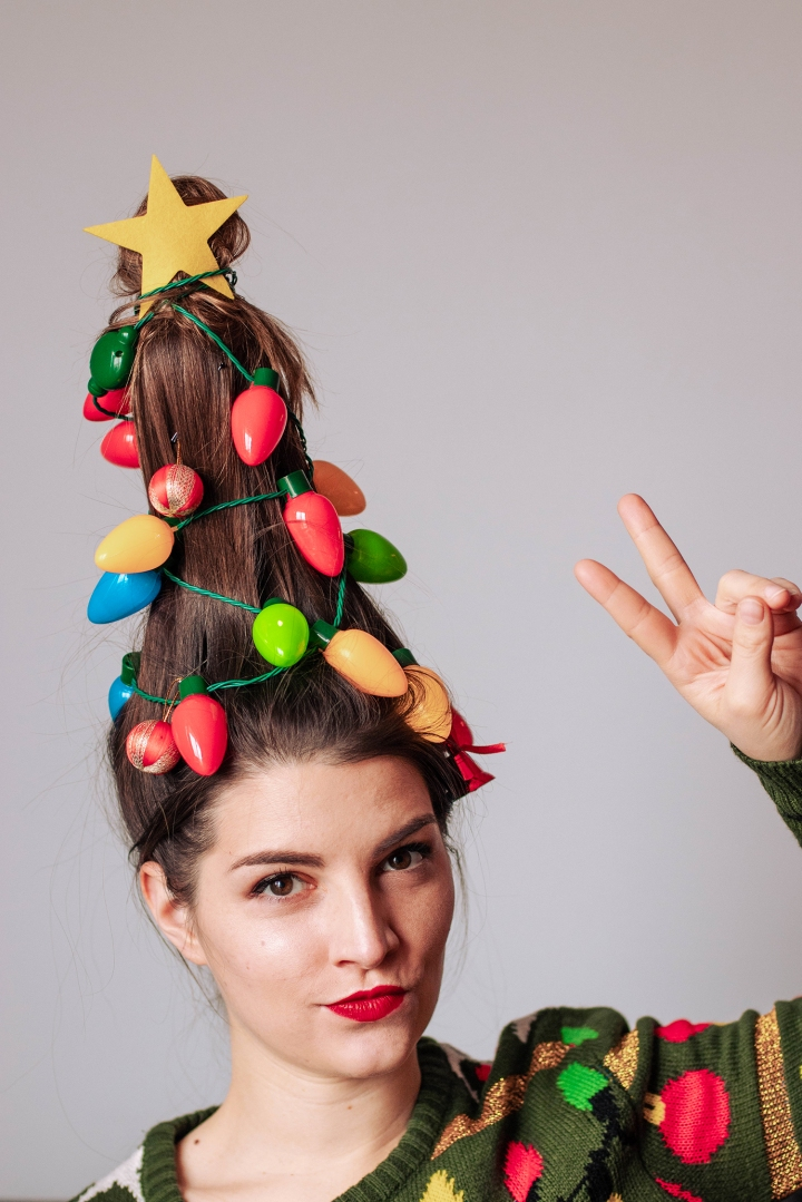 christmas tree hair 11