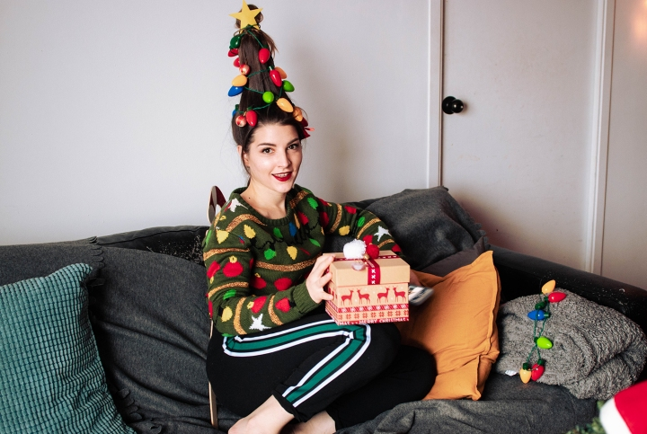 christmas tree hair 2