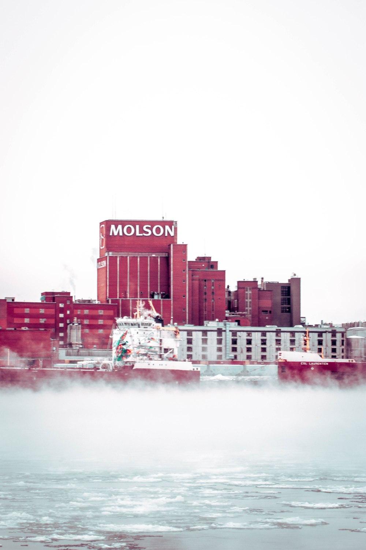 L'usine Molson en hiver